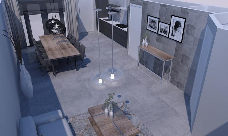 3D-ontwerp-binnenvloer